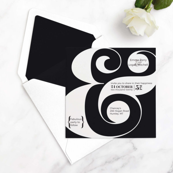 ampersand wedding invitations