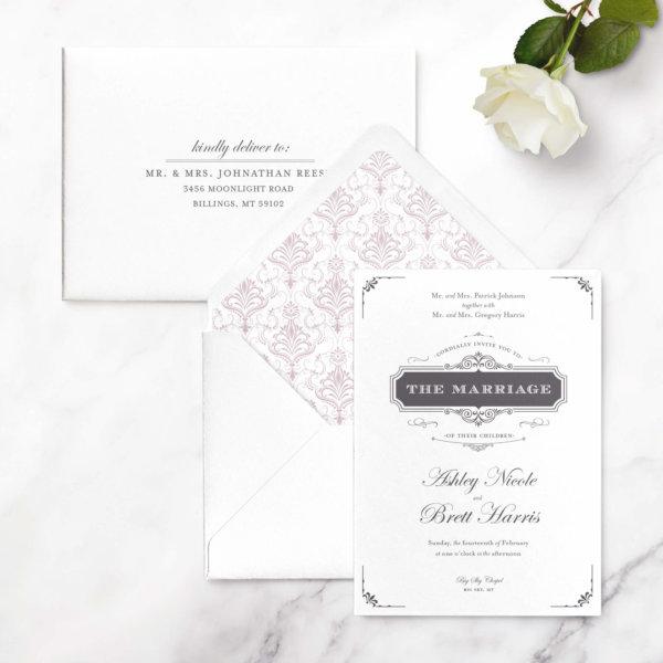 damask-wedding-invitations