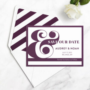 typography save the date cards