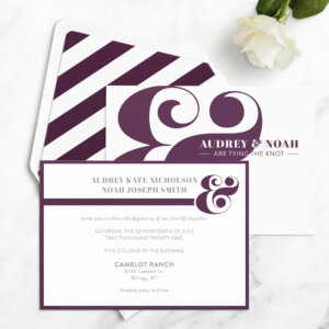 bold wedding invitations