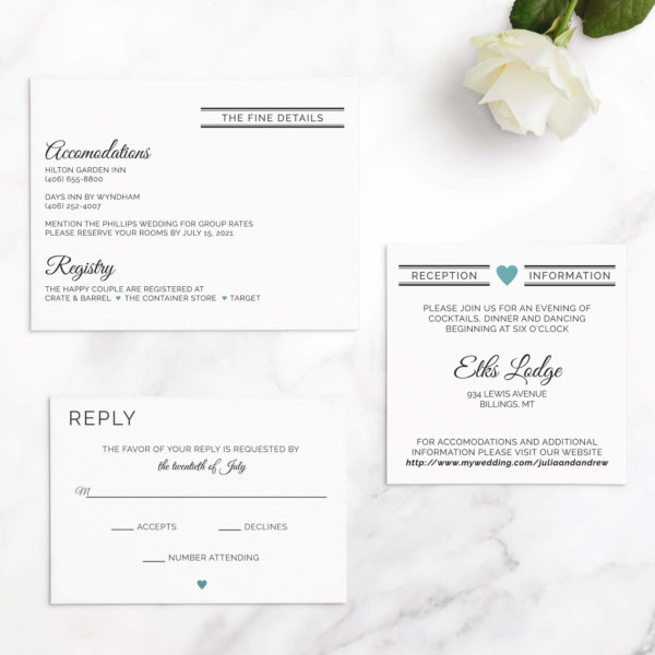 clean wedding invitations