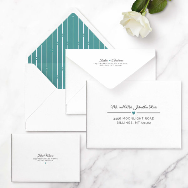 contemporary wedding invitations
