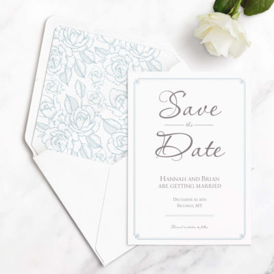 elegant save the date cards
