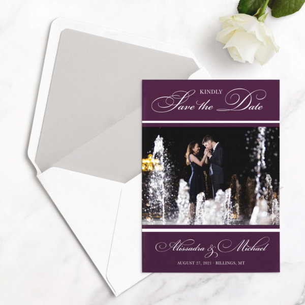 formal save the date card