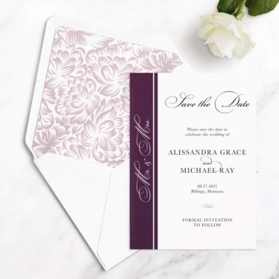 formal save the date cards
