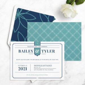 geometric wedding invitation