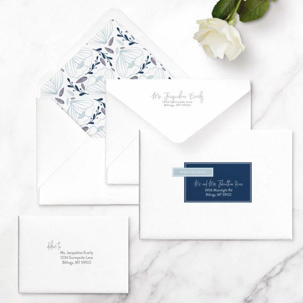 geometric wedding invitations