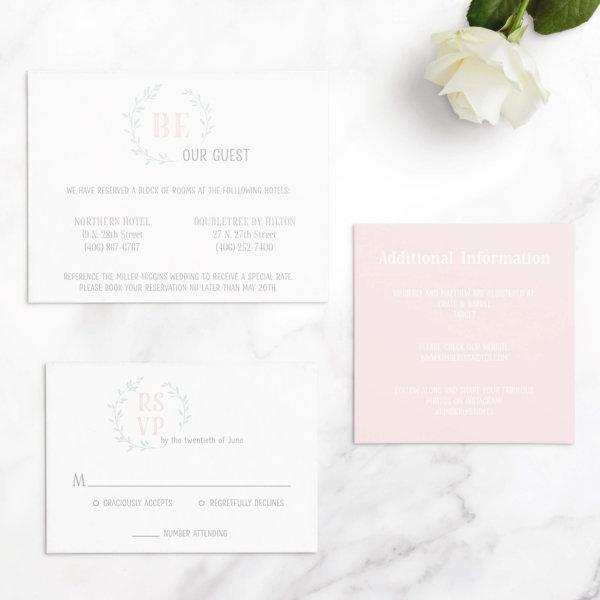 leaf wedding invites