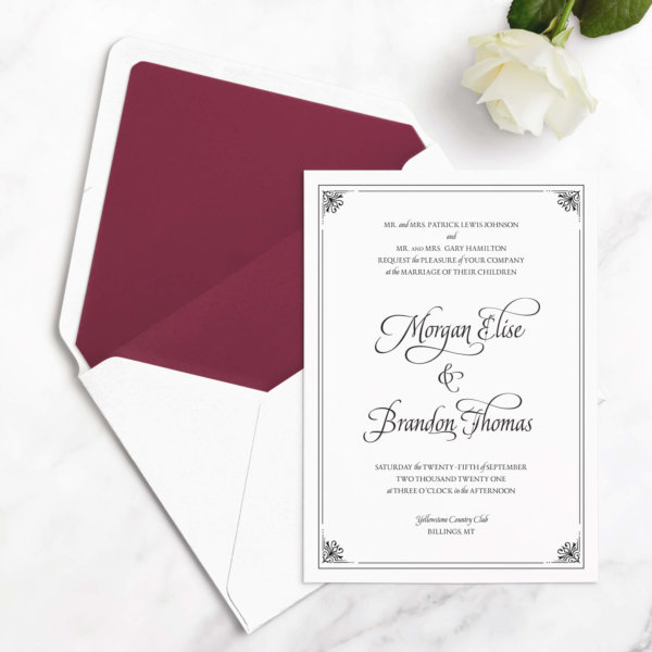 luxurious wedding invitaitons