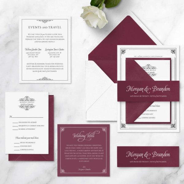 luxurious wedding invite