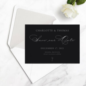 romantic save the date cards