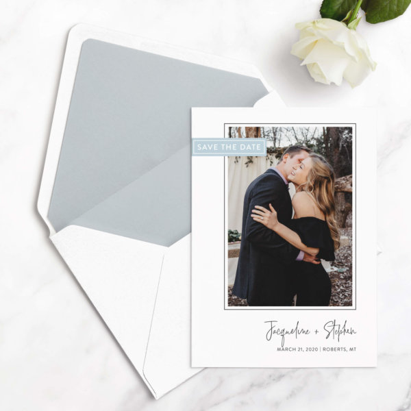 save the date card modern
