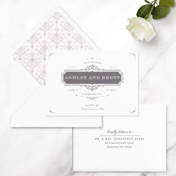 save the date card vintage