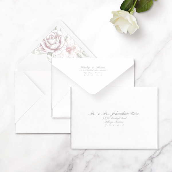 save the date card rose