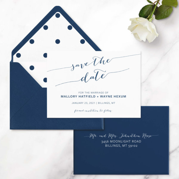 save the date cards chic