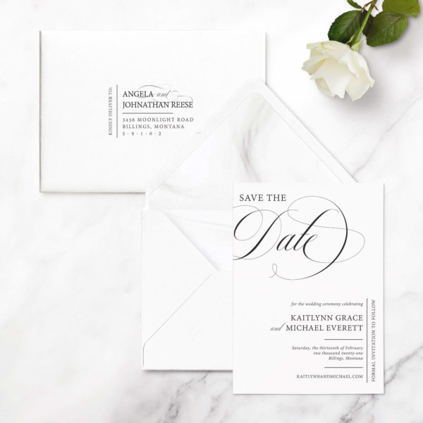 save the date cards classic