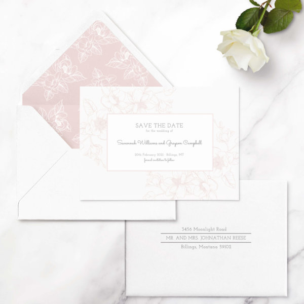 save the date cards traditional