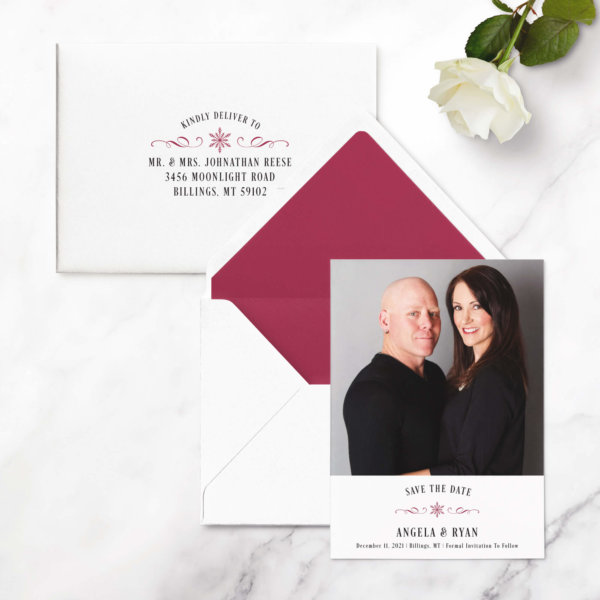 save the date cards winter
