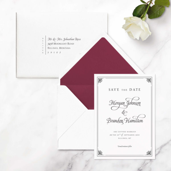 save the date elegant
