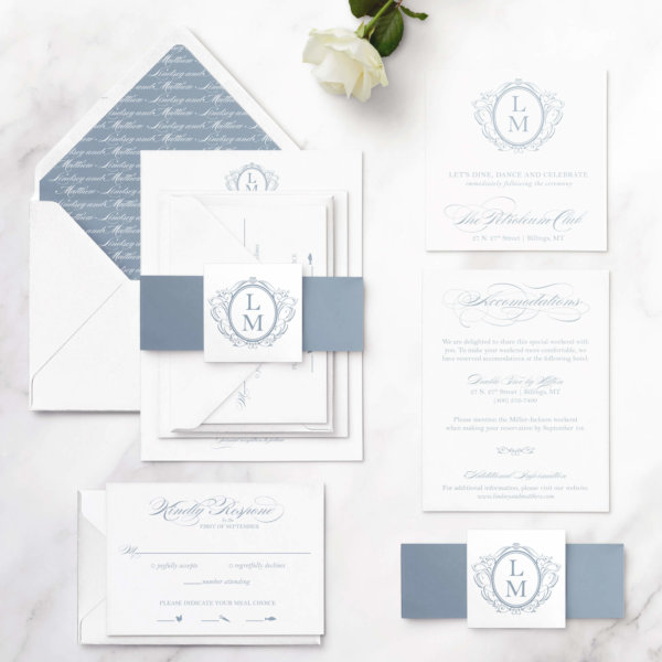 timeless wedding invites