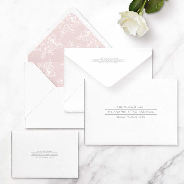 traditional wedding invite