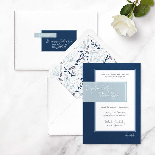 wedding invitation geometric