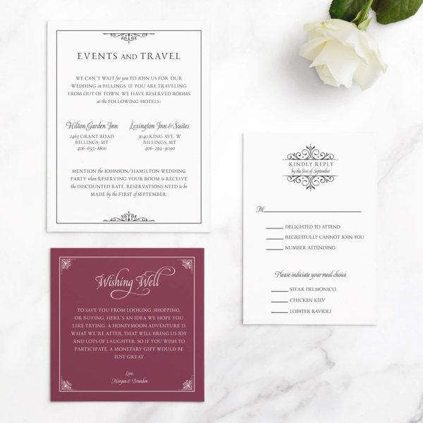 wedding invitation luxurious