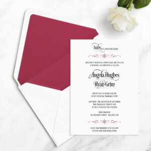 winter wedding invitations snow