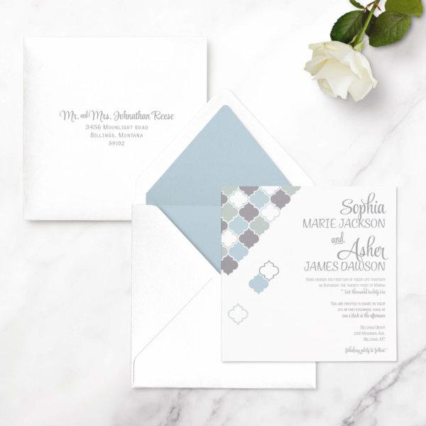 wedding invitation square
