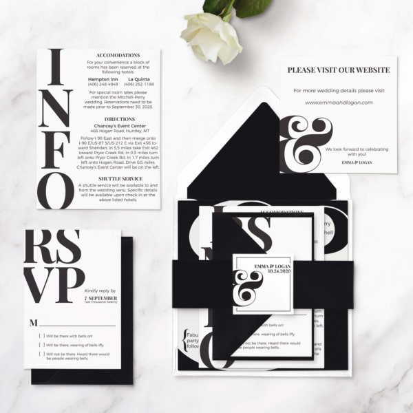 wedding invitations ampersand