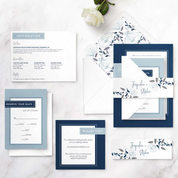 wedding invite geometric
