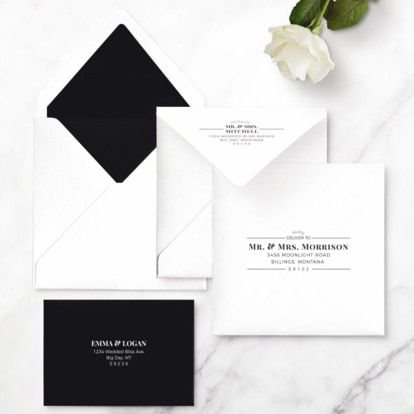 wedding invites ampersand