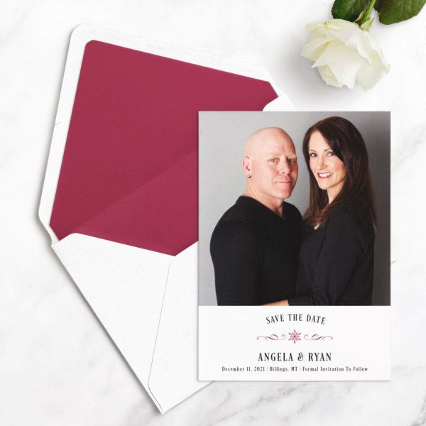 winter save the date cards
