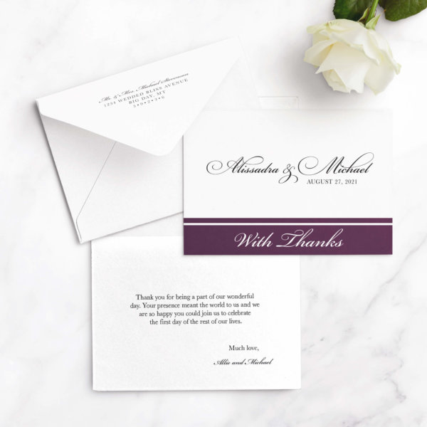 thank you cards for wedding