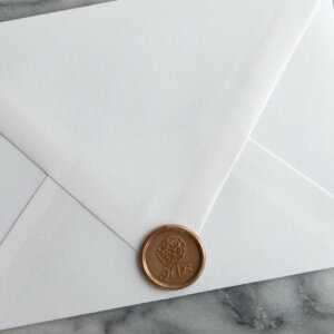 wax seals wedding invitations