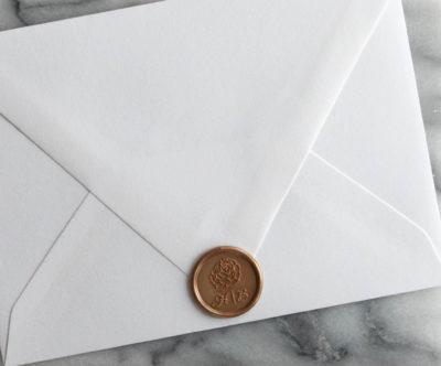 wax seals wedding invitations