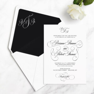 glam wedding invitations