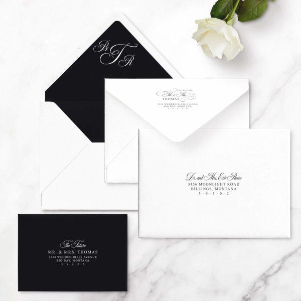 glam wedding invite