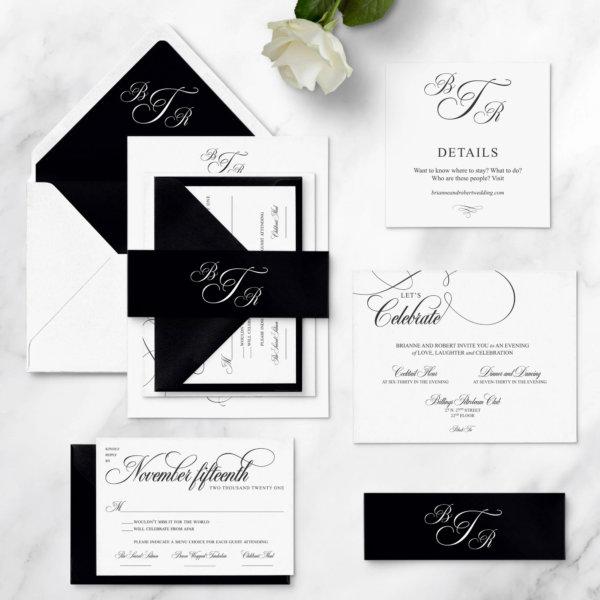 wedding invitations glam