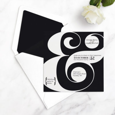 ampersand wedding invitations free