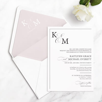 classic free wedding invitation sample