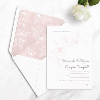 floral wedding invitation sample
