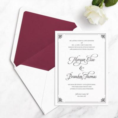 luxury wedding invitation sample