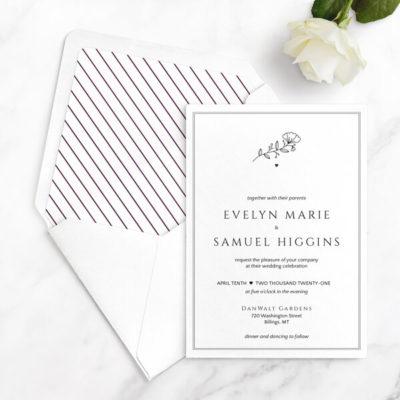 modern wedding invitations free sample