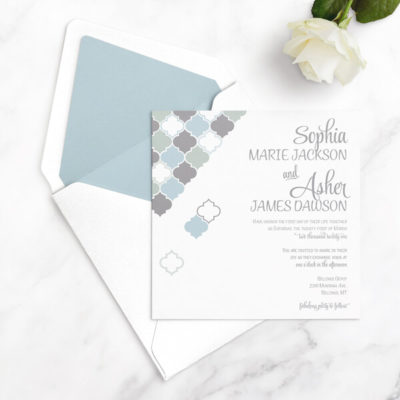 square wedding invitations free sample