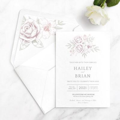 wedding invitations formal sample free
