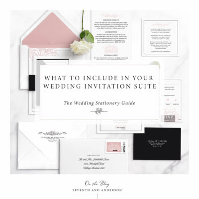 what to include in your wedding invitation suite