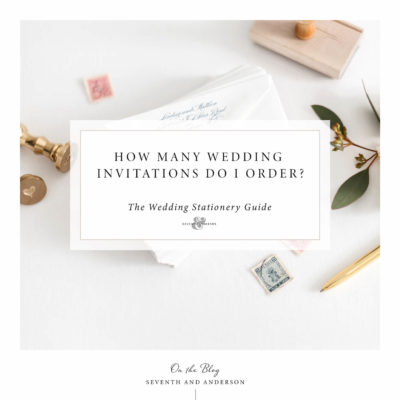 number of wedding invitations