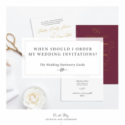 when should I order wedding invitations