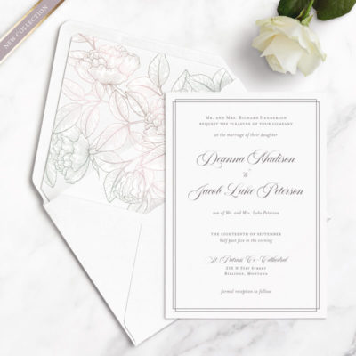 elegant vintage wedding samples